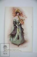 "Illustrated Postcard ""In Hoops & Furbelows"" - F. Aveline - Ed. James Henderson Nº 2675 - Women With Hat & F - Ilustradores & Fotógrafos"