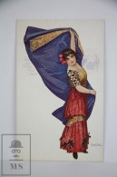 Illustrated Postcard Bullfighting Women -Chantecler - Ed. Coll Salieti - Early 20th Century - Otros Ilustradores