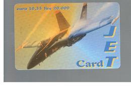 ITALIA (ITALY) - REMOTE -   FISCALBIT - JET CARD, PLANE  20.000   - USED - RIF. 10957 - Schede GSM, Prepagate & Ricariche