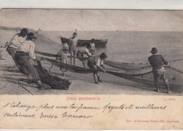 """Scene Di Pesca_pescherecce_"""" La Tratta """" Vg Il 1902 X Paris-Buono Statato Di Conservazione-Originale 100%- - Fischerei"""