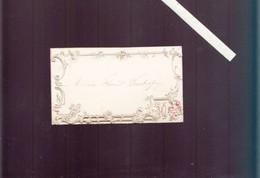 Menu Caligraphié  - Fin  XIXè - Beau Gaufrage - Menus