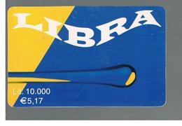 ITALIA (ITALY) - REMOTE -  LIBRA                             - USED - RIF. 10959 - Schede GSM, Prepagate & Ricariche