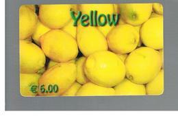ITALIA (ITALY) - REMOTE -   YELLOW   -     LEMONS  6,00 EURO             - USED - RIF. 10960 - Schede GSM, Prepagate & Ricariche