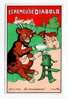 Illustrateur Benjamin Rabier, Publicité écrémeuse Diabolo, Vache, Veau, Cochons - Rabier, B.
