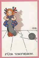 Guerre 14/18 - Carte Humoristique Allemande Signée Dora HECKEU ? - Für Vatern - Guerra 1914-18