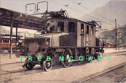 1910 Simplon Switzerland Carte Postale: Locomotive Électrique (Burgy 399) - VS Valais