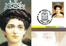 [MD1466] CPM - REGINA ELENA DI SAVOIA (1873-1952) - CARMAGNOLA (TORINO) - CON ANNULLO 2.3.2002 - NV - Case Reali