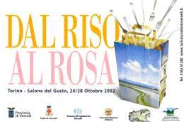 [MD1468] CPM - TORINO - SALONE DEL GUSTO 2002 - DAL RISO ALLA ROSA - CON ANNULLO 26.10.2002 - NV - Culture