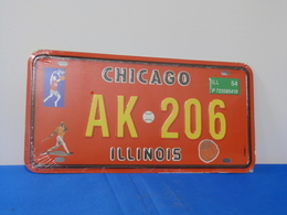 """Plaque D'immatriculation """"CHICAGO"""" - Advertising (Porcelain) Signs"""