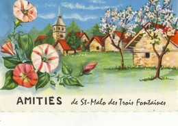CPA (56) Amitiés  De ST MALO DES TROIS FONTAINES (b Bur) Parfait Etat - Autres Communes