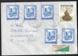 QS34  Austria Österreich 1988 Cover To Linz - Mi.1649 X5,  Mi.1865 - 1945-.... 2a Repubblica
