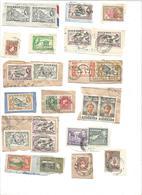 COLONIES ANGLAISES LOT DE TIMBRES SUR FRAGMENTS. - Stamps
