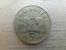 Swaziland  5  Emalangeni  1996  Km 47 - Swaziland