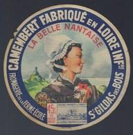 """Etiquette Fromage Camembert  La Belle Nantaise  Fromagerie De La Ferme Ecole De St Gildas Des Bois Loire Inférieure """"fem - Cheese"""