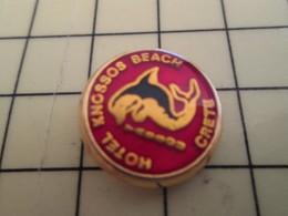 Pin1215c Pin's Pins / Beau Et Rare / DAUPHIN HOTEL KNOSSOS BEACH - Animals