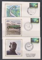 "AAT 1991/1992 Antarctic Treaty 2v 8  FDC ""Silk"" Casey, Davis, Mawson, Macquerie Isl. (38457) - FDC"