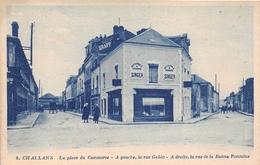 """¤¤  -  CHALLANS   -  La Place Du Commerce -  Les Rues Gobin Et De La Bonne Fontaine  - Machine à Coudre """" SINGER """" - Challans"""