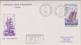 TAAF 1987 J.B. Charcot / Sailing Ship 1v FDC (38460) - FDC