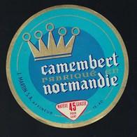 Etiquette Fromage Camembert Fabriqué En Normandie J Martin - Cheese