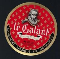 """Etiquette Fromage Camembert Fabriqué En Normandie Le Galant Qualité Export """"henri 4"""" 61AJ - Cheese"""