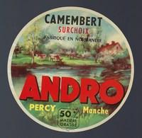 """Etiquette Fromage Camembert Surchoix Fabriqué En Normandie Andro Percy Manche  """"vaches"""" - Cheese"""
