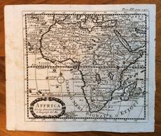 """CARTA GEOGRAFICA  """"AFFRICA  DI SANSON D'ABBEVILLE  GEOGRAFO DEL RE """" Abbeville 1600 - Parigi 1667 - Altri"""