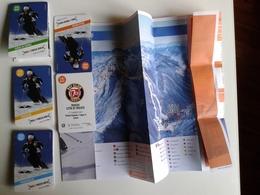 Alt1020 Ski Area Map Mappa Piste Sci Skirama Comprensorio Sciistico Friuli Zoncolan Piancavallo Forni Sopra Trieste - Sport Invernali