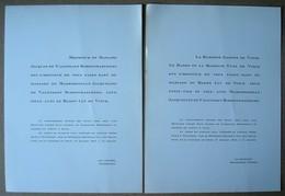 Faire-part Du Mariage De Jacqueline De Valensart Schoenmaeckers & Baron Luc De Vinck. - 1952. - Wedding