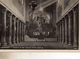 CISJORDANIE  BETHLEHEM INTERIEUR DE L EGLISE  DE LA NATIVITE - Cartes Postales