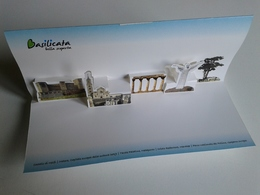 Alt1017 ADV Pop-up Basilicata Cultura Castello Melfi Matera 2019 Tavole Palatine Metaponto Cristo Redentore Pollino - Tourism Brochures