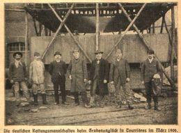 Deutsche Rettungsmannschaften Beim Grubenunglueck In Courrières Im März 1906/ Druck, Entnommen Aus Kalender / 1907 - Livres, BD, Revues