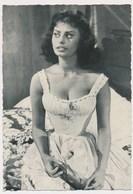 SOPHIA LOREN Film Actress Sexy, Vintage Old Photo Postcard - Acteurs