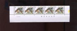 Belgie Buzin Vogels Birds 2426 9Fr Bande Datée Datumstrook Paar 12/9/1991 - 1985-.. Oiseaux (Buzin)