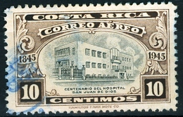 COSTA RICA,POSTA AEREA, AIRMAIL, OSPEDALE SAN JUAN DE DIOS, 1946, FRANCOBOLLI USATI Yvert Tellier PA124… Scott C129 - Costa Rica