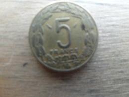 Centrale  African  5  Francs  1975  Km 7 - Centrafricaine (République)
