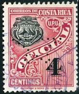 COSTA RICA, STEMMI, COAT OF ARMS, VALORI DI BOLLO, UPU, 1937, FRANCOBOLLI USATI Michel D80… Scott O84 - Costa Rica