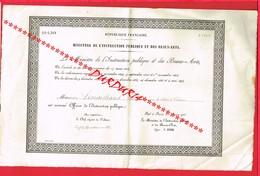 1 Diplôme De 1913 Ministère De L'Instruction Publique Et Des Beaux Arts M LEMARCHAND Homme De Lettres Falaise - Diploma & School Reports