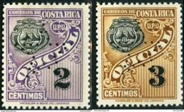COSTA RICA, STEMMI, COAT OF ARMS, VALORI DI BOLLO, UPU, 1937, FRANCOBOLLI NUOVI (MNH**) Michel D78,D79… Scott O82,O83 - Costa Rica