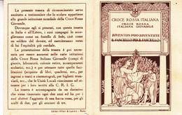 Tessera_Croce Rossa Italiana Giovanile-Unità Locale Di Aosta-Buono Stato Di Conservazione-Originale 100%- - Vecchi Documenti