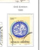 Argentina PO 1980 OAS Emblema    Scott.1264+ See Scan On Scott.Page - Usati