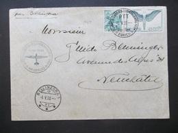 Helvetia: 1939 Air Cover To Neuchatel (#QC10) - Switzerland
