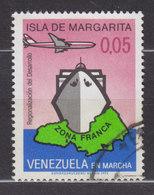 Venezuela 1973 Mi. 1942    0.05 (B) Freihandelszone Ista Margarita Map Landkarte Fährschiff Flugzeug - Venezuela
