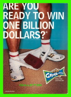 ADVERTISING - PUBLICITÉ - GRAB.COM - ARE YOU READY TO WINN ONE BILLION DOLLARS ? IN 2000  - - Publicité