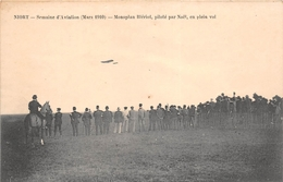 ¤¤   -   NIORT  -  Semaine D'Aviation (Mars 1910)  -  Monoplan BLERIOT , Piloté Par Noël, En Plein Vol   -  ¤¤ - Niort