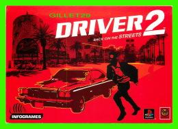 ADVERTISING - PUBLICITÉ - EIFA DIFFUSION - DRIVER 2, BACK ON THE STREETS  IN 2000 - - Publicité