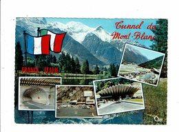 Cpsm TUNNEL DU MONT BLANC Chamonix Mont-Blanc Multivues - Cl 76C Cim 27 - Chamonix-Mont-Blanc