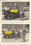ABO Armée Belge D'Occupation En Allemagne Années 50. 2 Photos De Jeep Willys Police Militaire - Vehicles