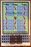 ADOLPH HITLER REICHSTAG 23.3.33 MANIFESTO CON TAPPETO VOLTI DI HITLER BOMBARDIERI E BOMBE  28X43 - Altre Collezioni