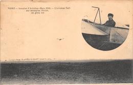 ¤¤   -   NIORT  -  Semaine D'Aviation (Mars 1910)  -  L'Aviateur Noël Sur Monoplan BLERIOT, En Plein Vol   -  ¤¤ - Niort