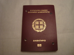 Greece Biometric Passport Reisepass Passeport Missing The 1st Photo Page #4 - Documents Historiques